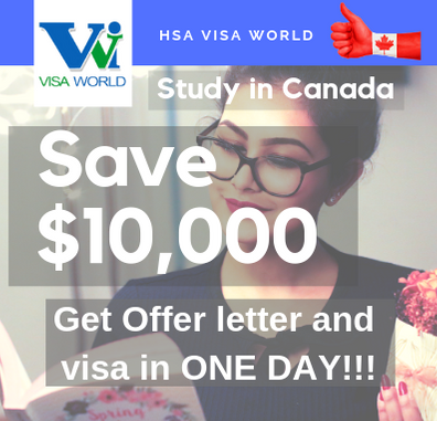 Study in Canada - GIC increased to CAD $20000