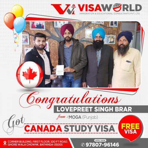 Lovepreet Singh, Moga, Canada